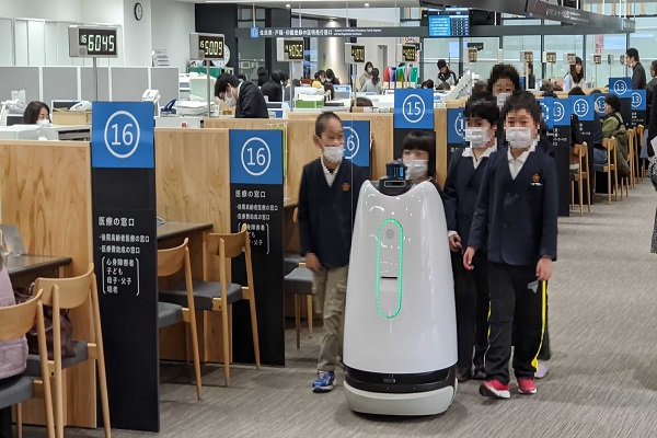 ロボットと人が複数